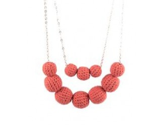 Khmer Creations Aza Crochet Bead Necklace