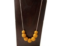 Khmer Creations Crochet Drop Necklace