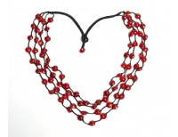 Sandalwood Seed 4-Strand Necklace