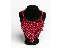 Sandalwood Bead Statement Necklace