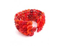 Khmer Creations Recycled Button Cuff